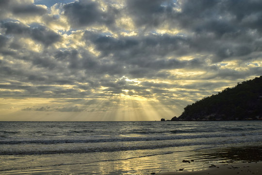 Finch Bay Sunrise Light Rays
