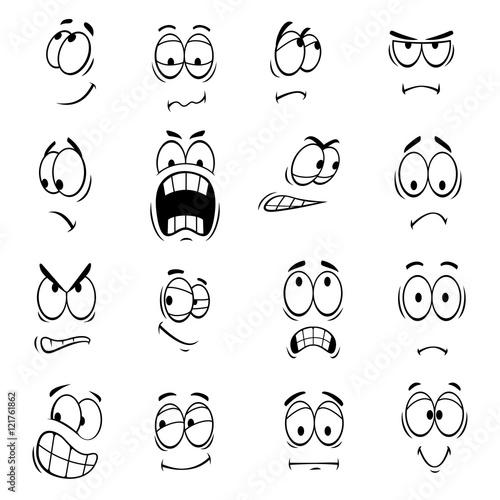 """Human cartoon eyes emoticons symbols"" Stockfotos und ..."