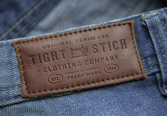 Leather Label Embossed Mockup