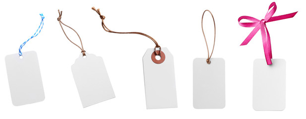 Cards with a cord isolated on white