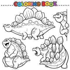 Cartoon Coloring Book -Dinosaurs
