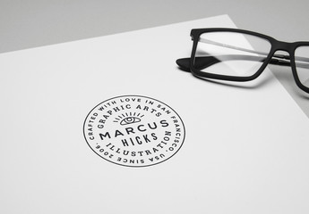 Logo Mockup with Eyeglasses