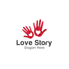 Hands logo creative concept design vector