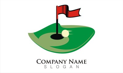 hole in one golf logo template