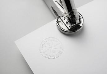 Seal Stamp Logo Mockup