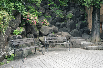 Scenery with the bench / Rest station