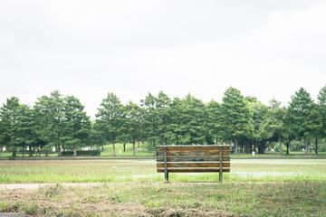 Scenery with the bench / Mizumoto Park