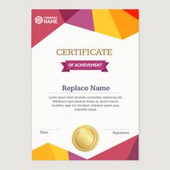 Certificate Vertical Template. Vector