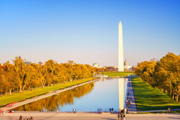 Washington Monument and pool in Washington DC, USA