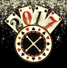 Christmas casino. Happy New year 2017. vector illustration