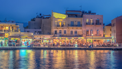 Chania, Crete, Greece: Old Town next to Venetian harbor