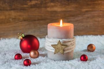 Kerze Adventszeit Atmosphäre Stimmung Weihnachten