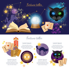 Astrology and alchemy infographics fortune telling