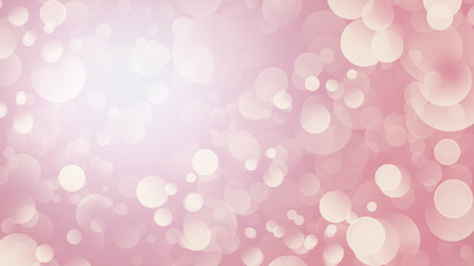 Blurred pink festive background with bokeh lights