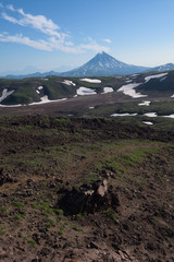 Top of Vilyuchinskaya volcano viewed from Gorely Volcano, Kamchatka, Russia