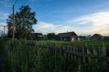 Remote village Kozyrevsk in the early morning, Kamchatka, Russia