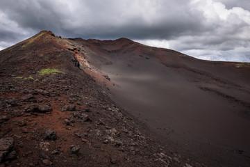 Sandy hill on the slopes of Tolbachik Volcano, Kamchatka, Russia