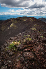 Rocky ridges on the slopes of the Tolbachik Volcano, Kamchatka, Russia