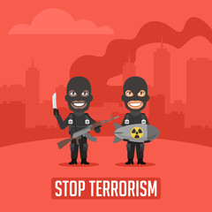 Terrorists in City With Weapons