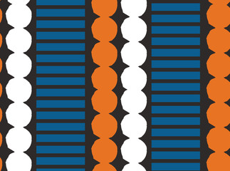 Seamless pattern with graphic geometric elements