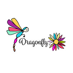 Art dragonfly, sketch for your design