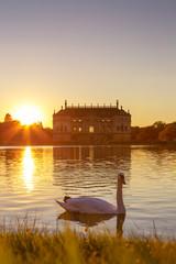 Dresden Sonnenuntergang im Großen Garten