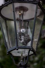 Auf LEDs umgerüstete alte Gaslaterne