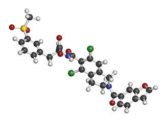 Lifitegrast drug molecule.