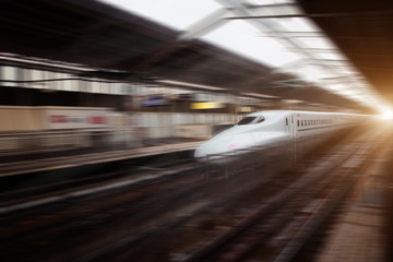 High speed train in motion