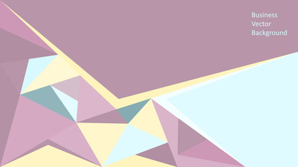 Female Business vector background . Abstract geometric backgroun