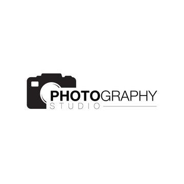 camera lens photographer logo icon design vector