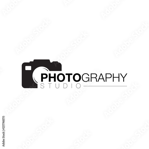 quotcamera lens photographer logo icon design vectorquot stock