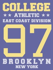 East coast division - athletic jersey design print