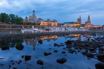 Dresden in der Blauen Stunde