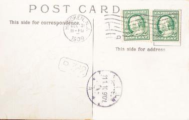 Vintage postcard of 1909