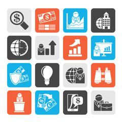 Business and Finance Strategies  Icons  - vector icon set