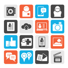 Social media, network and internet icons - vector icon set