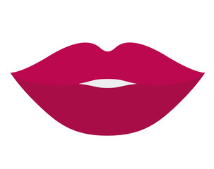 Mouth cartoon icon. Female sexy and lips theme. Colorful design. Vector illustration