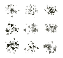 A collection of stand-alone monochrome black elements for design of posters, cards, brochures and site titles. Isolated objects on white background can be edited 3. Vector