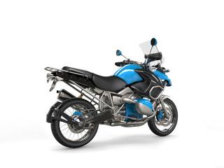 Metallic blue bike