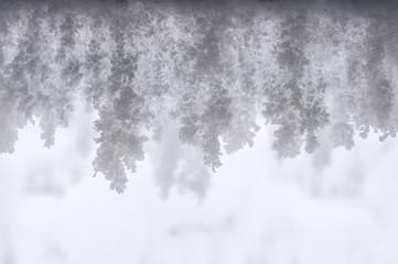 snow stalactites texture