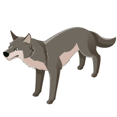 Isometric wolf icon