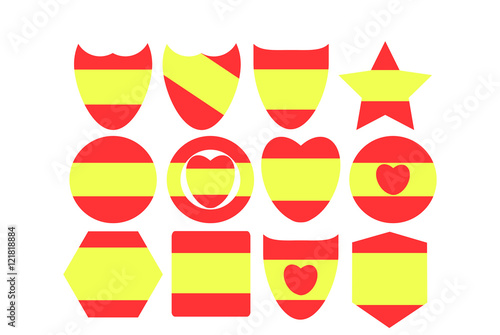Set Of Symbols Of Spain Stock Image And Royalty Free Vector Files