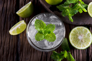 Glass filled with fresh made Lime Juice.