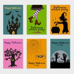 Set of  Halloween cards.