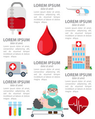 Infographic of hospital