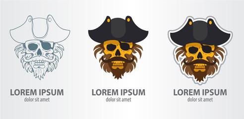 Logo pirate skull