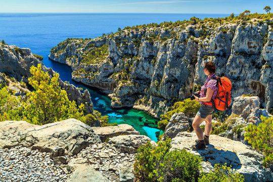 Famous Calanques D'En Vau in Cassis near Marseille,France