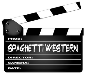 Spaghetti Western Movies Clapperboard