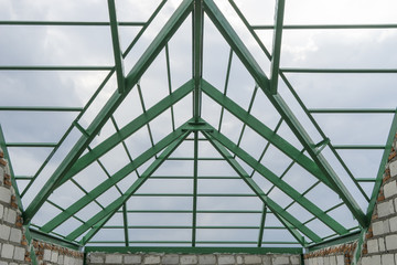 green steel roof for construction house